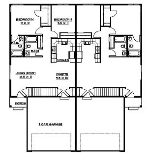 Floor Plan for Rental Units. Mount Horeb WI rental   floor plan